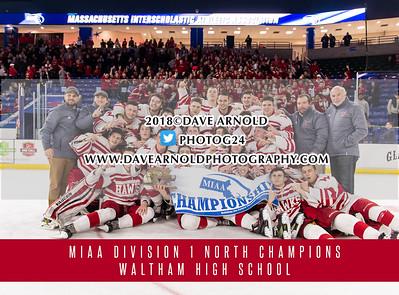 3/14/2018 - Boys Varsity Hockey - Winchester vs Waltham