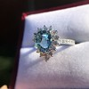 3.30ctw Aquamarine and Diamond Cluster Ring 25