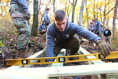 2019 UWL ROTC Hixon Forest Bridge Building