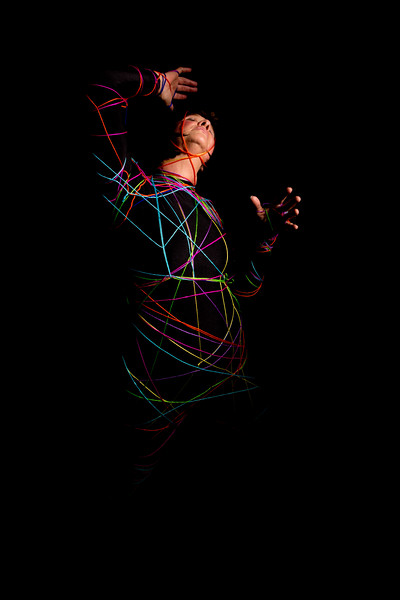 Karen Spinning a Yarn