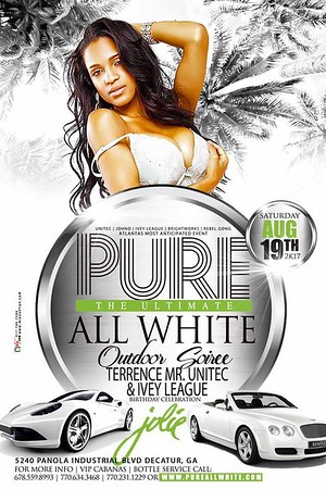 PURE ALL WHITE TERRENCE BIRTHDAY BASH