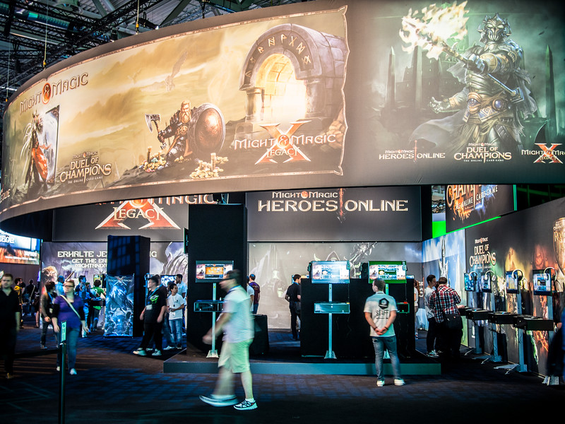 Might and Magic booth at Gamescom 2013