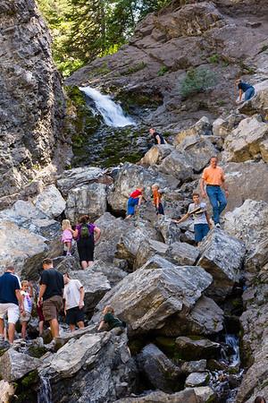 Donut Falls Big Cottonwood Canyon