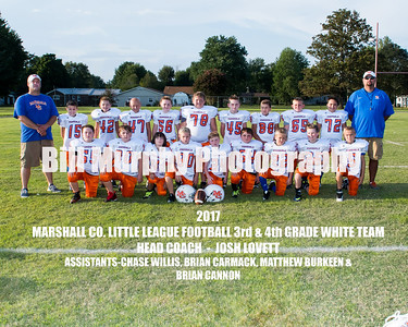 2017 3rd & 4th Grade White Team, Marshall Co. Little League Football