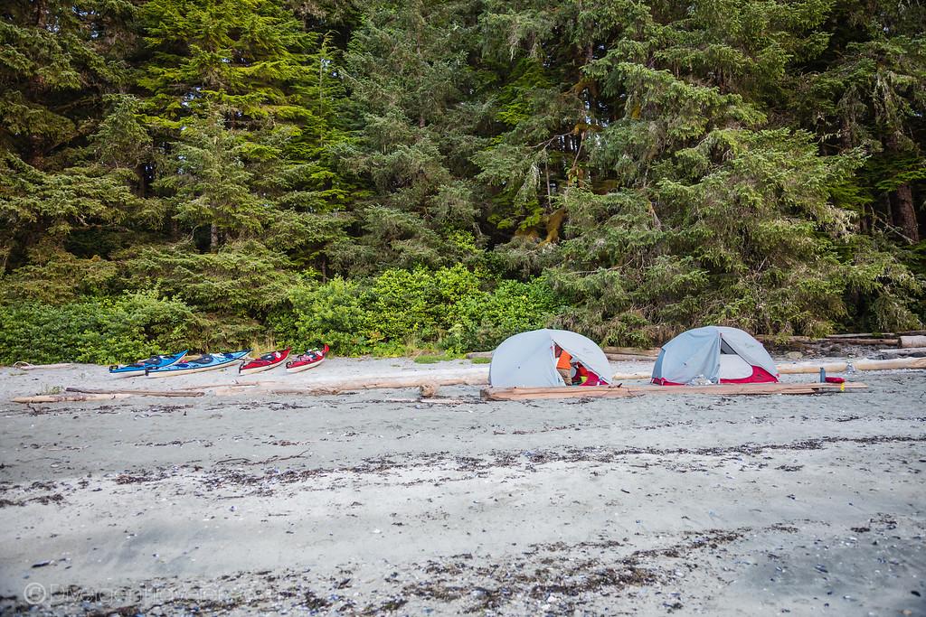 Tofino kayaking - Hidden Beach Campsite on Vargas Island