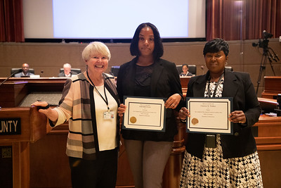 Recognizing Voter Registration Staff at BRE Meeting
