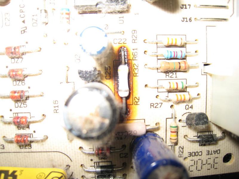 Burnt Resistor on Even Heat Control Board