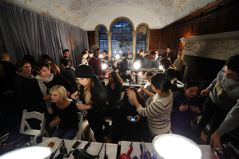 . Atmosphere backstage at the JC Obando fashion show Mercedes-Benz Fashion Week Fall 2014 at Academy Mansion on February 6, 2014 in New York City.  (Photo by Ilya S. Savenok/Getty Images)