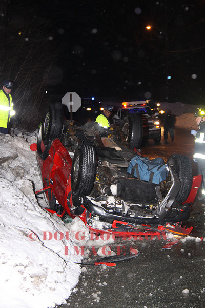 Melrose, MA - MVA, Ravine Road at Fellsway West, 2-25-11