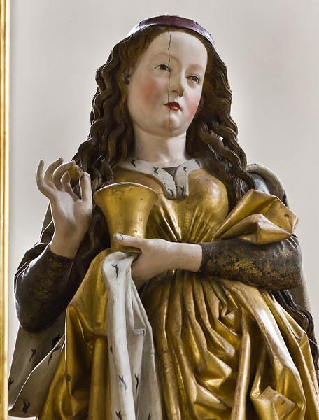 Nördlingen. St. Georg: Hochaltar, Maria Magdalena, Detail