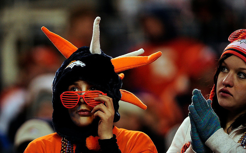 . Fans watch the second half of the game.  The Denver Broncos vs Cleveland Browns at Sports Authority Field Sunday December 23, 2012. AAron  Ontiveroz, The Denver Post