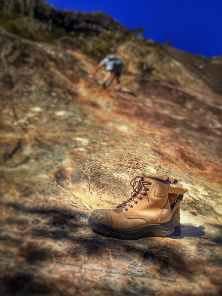 Abandoned boots!