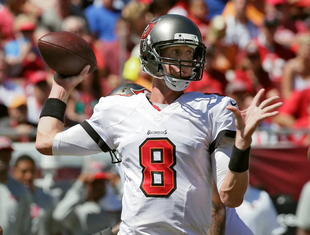 . Tampa Bay Buccaneers quarterback Mike Glennon throws a pass against the Arizona Cardinals during the first quarter of an NFL football game on Sunday, Sept. 29, 2013, in Tampa, Fla. (AP Photo/Chris O\'Meara)