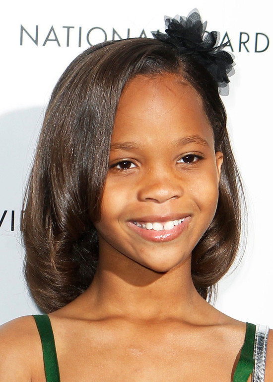 ". Actress Quvenzhane Wallis arrives to receive the Breakthrough Performance Actress Award at the National Board of Review Awards in New York in this January 8, 2013 file photo. Wallis has been nominated for best actress for her role in ""Beasts of the Southern Wild\""  for the 85th Academy Awards, announced in Beverly Hills January 10, 2013. The Oscars will be presented in Hollywood, California February 24, 2013.    REUTERS/Lucas Jackson/Files"