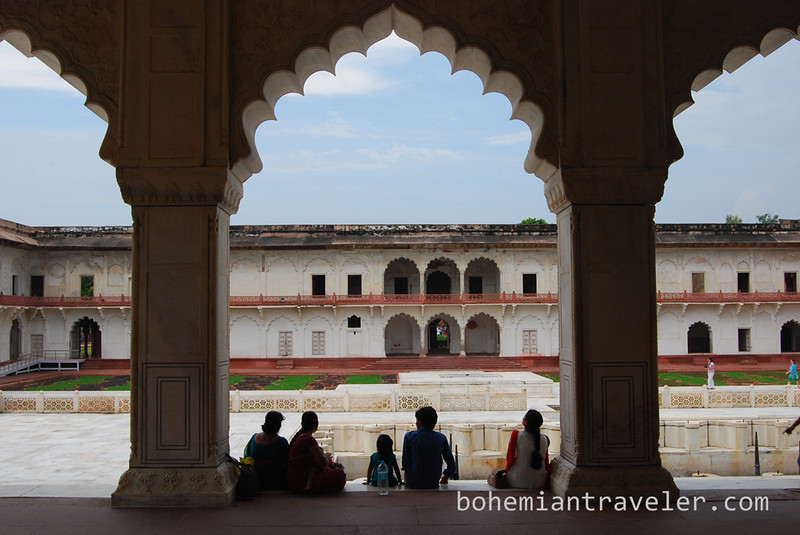 inside Agra Fort family resting.jpg