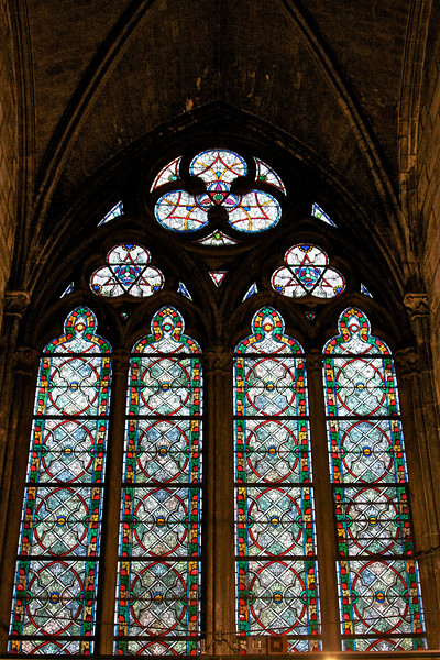 Stained glass at Notre Dame.