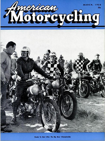1956 March American Motorcycling Magazine