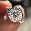 2.23ct Old European Cut Diamond Edwardian Solitaire GIA I VS1 5