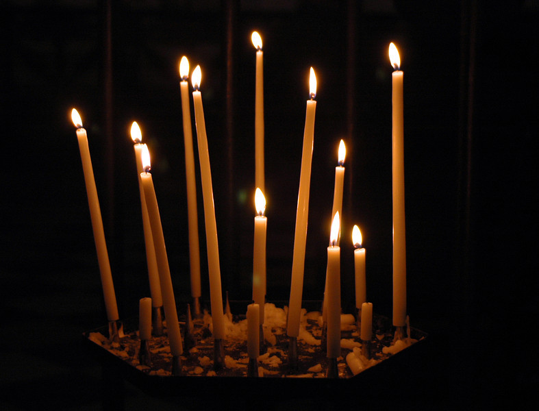 The candles of St. Sulpice