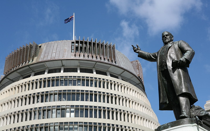 «The Beehive» in Wellington