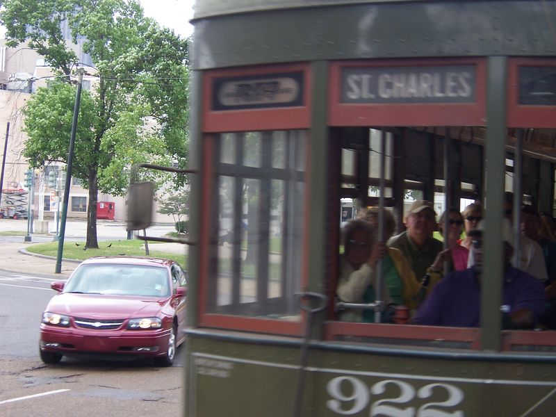 Almost a head on streetcar collision!  Cool!!