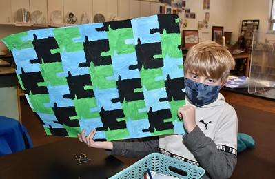 Some Sixth Grade Tessellations photos by Gary Baker