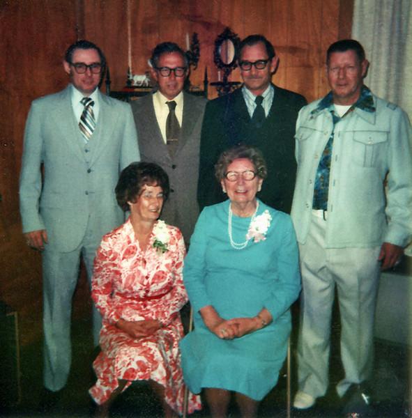 Harry, Jerry, Frank & Ray Clark, Amelia & Eva