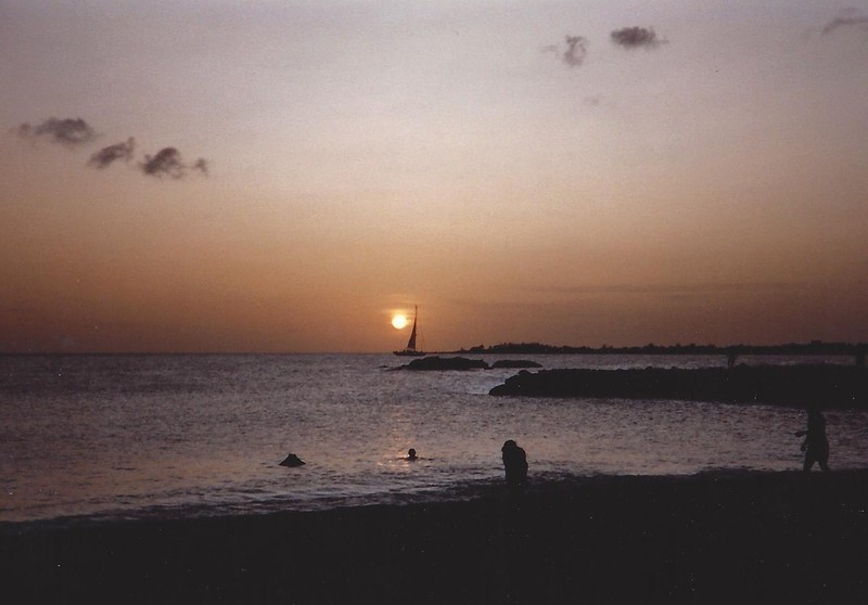 Sunset in St Martin