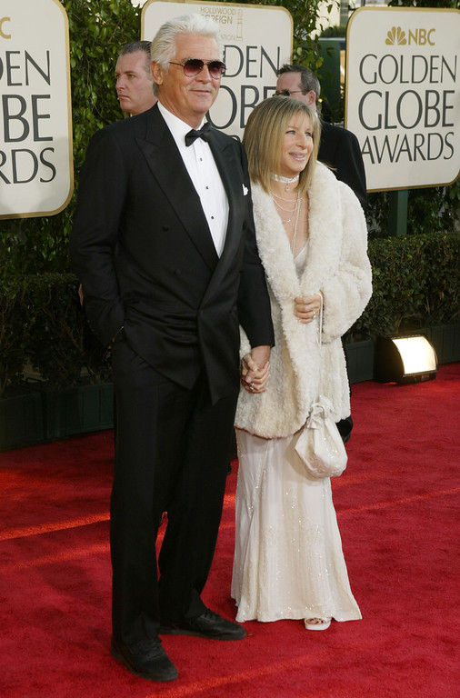 . Actor James Brolin (L) and Actress/Singer Barbra Streisand attend the 61st Annual Golden Globe Awards at the Beverly Hilton Hotel on January 25, 2004 in Beverly Hills, California. (Photo by Carlo Allegri/Getty Images)