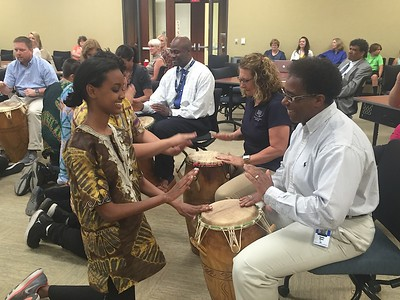 Learning Lunch World Drumming