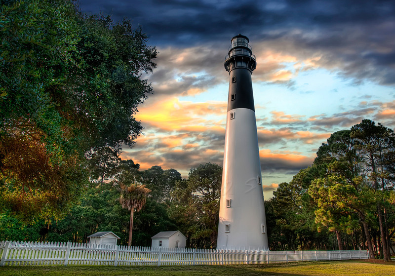The beautiful Hunting Island Lighthouse located near Beaufort, SC.