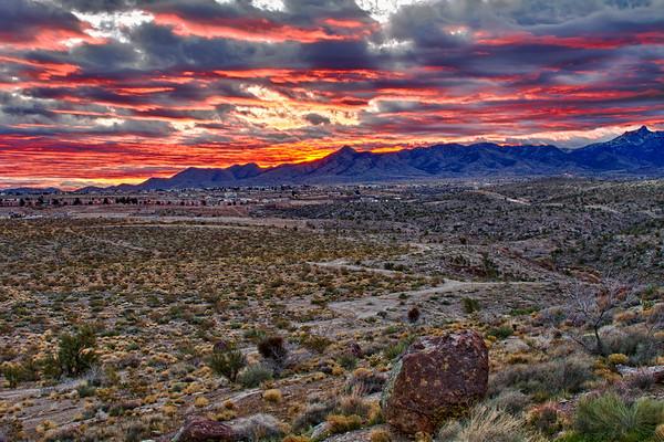 Cerbat Mountains in color