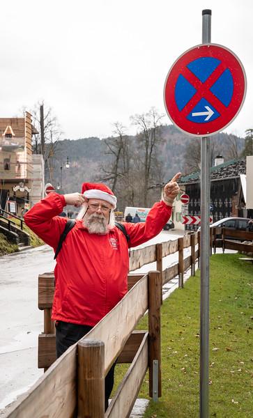 TBDBITL Santa puzzles out traffic signage