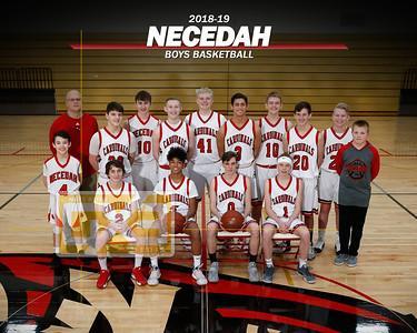 Necedah boys' basketball BBB1819
