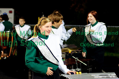 New Milford High School Marching Band at Trumbull High School, October 2, 2010