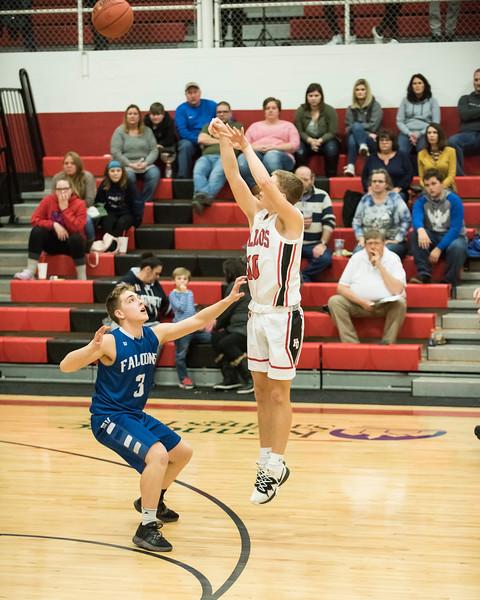 2019 Varsity Boys Basketball:  Hall-Dale vs Mt Valley
