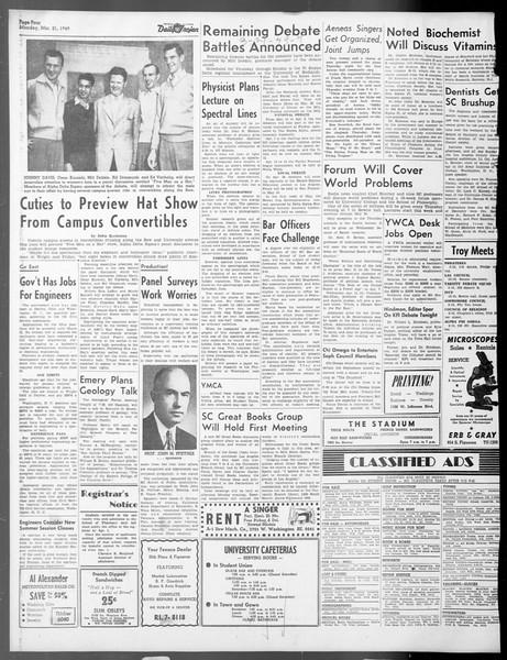 Daily Trojan, Vol. 40, No. 102, March 21, 1949