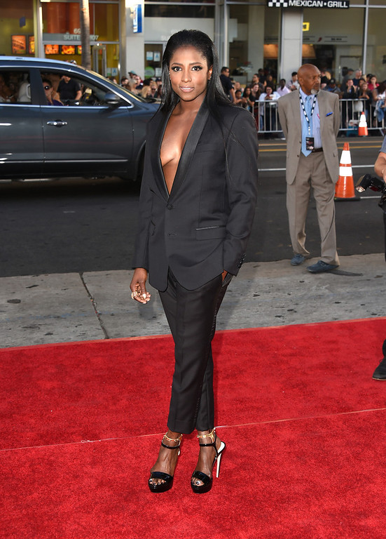 """. Actress Rutina Wesley attends the premiere of HBO\'s \""""True Blood\"""" season 7 and final season at TCL Chinese Theatre on June 17, 2014 in Hollywood, California.  (Photo by Jason Merritt/Getty Images)"""