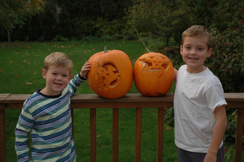 Jack & Will's Pumpkins.JPG