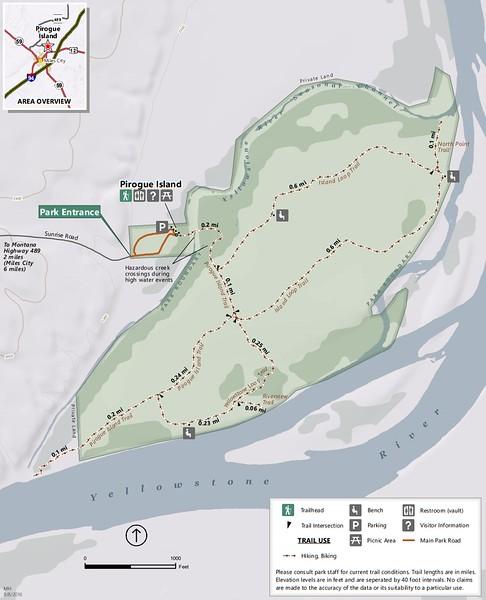 Pirogue Island State Park (Trail Map)