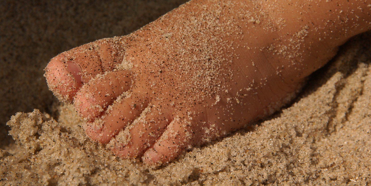 Sandy toes at Sandy Hook