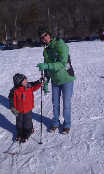 Skiing with Connor
