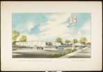 Architectural rendering of Fed Mart Retail Store, Yuma, Arizona, by Carl Maston, [s.d.], copy 2