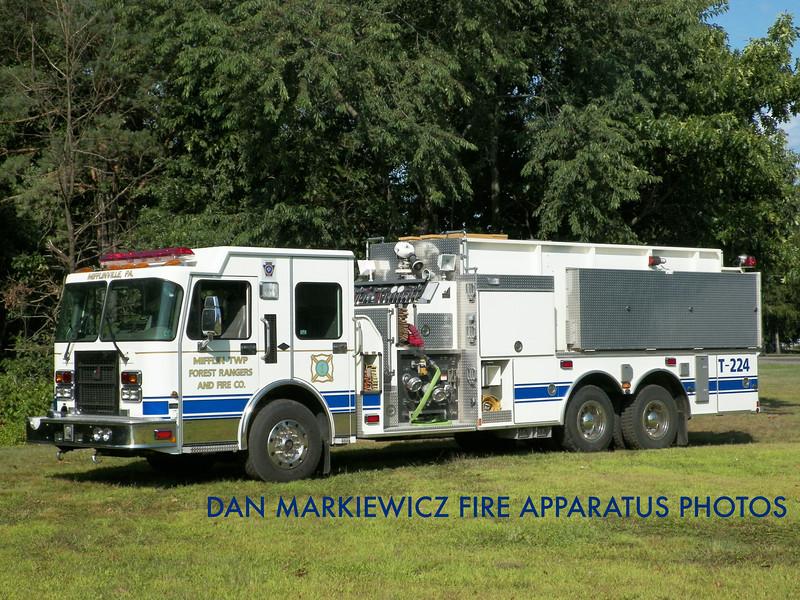 MIFFLIN TWP. FOREST RANGERS & FIRE CO. TANKER 224 1999 SPARTAN/SMEAL TANKER