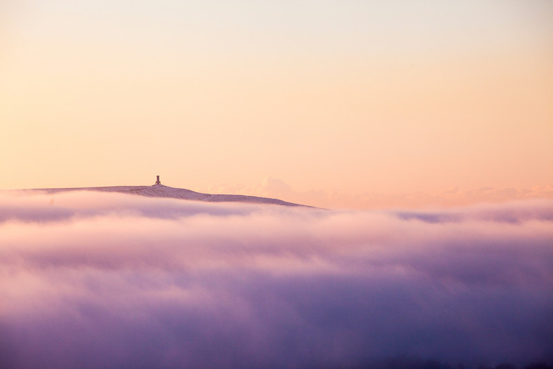 Jubilee Tower, Darwen poking through the valley clouds.