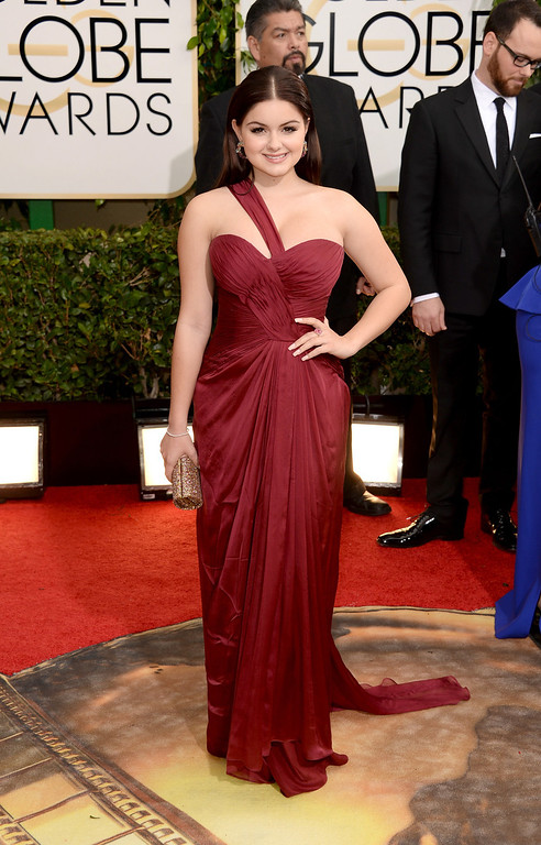 . Actress Ariel Winter attends the 71st Annual Golden Globe Awards held at The Beverly Hilton Hotel on January 12, 2014 in Beverly Hills, California.  (Photo by Jason Merritt/Getty Images)