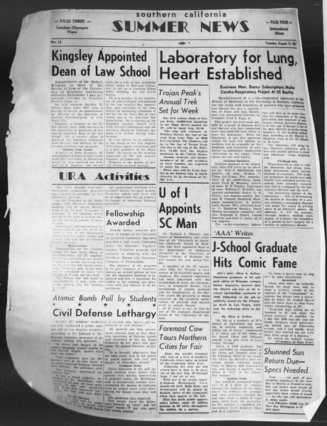 Summer News, Vol. 7, No. 14, August 12, 1952