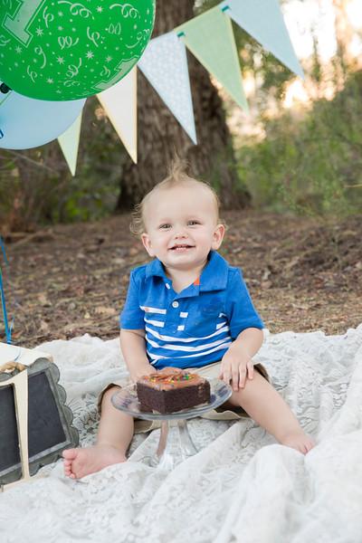 Mason 1st Birthday Cake Smash