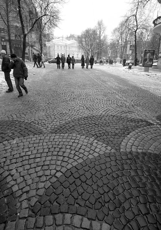 The streets of Kiev are beautiful but hard on the feet if you spend the day walking them.
