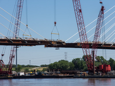 Saint Louis Riverfront Trail and New Bridge